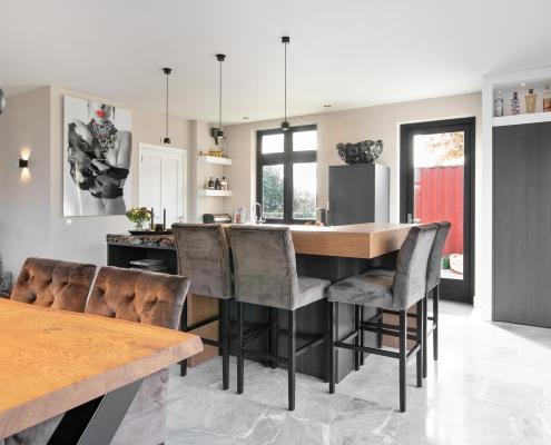 Doppenberg keukens donkere moderne keuken